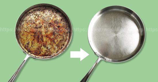 как почистить сковороду от нагара снаружи в домашних условиях