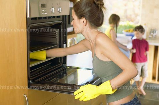 как очистить духовку от нагара