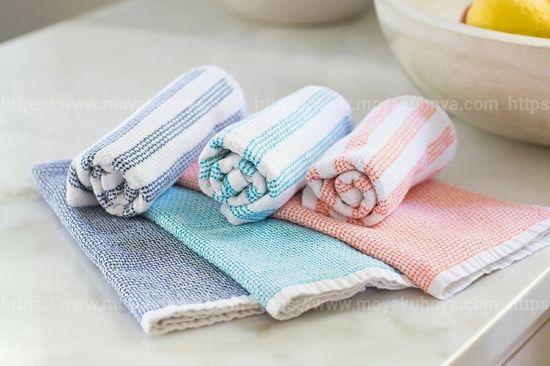 как отстирать цветные кухонные полотенца в домашних условиях
