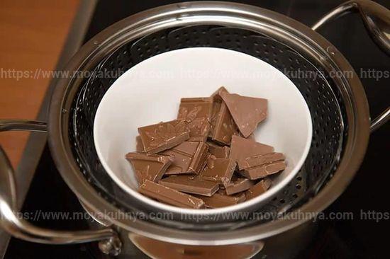 как растопить шоколад для торта в домашних условиях на водяной бане