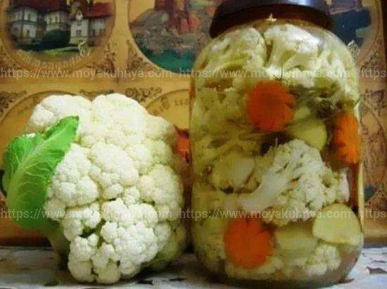 как засолить цветную капусту по армянски