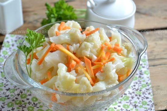 как вкусно засолить цветную капусту