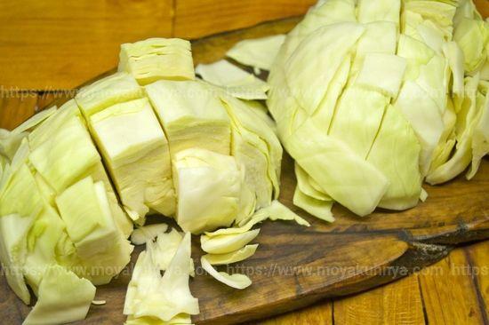 как солить капусту пластами