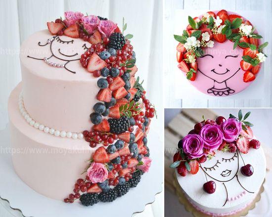 как украсить торт дома